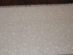 Table Runner Cream Beige Paisley Print