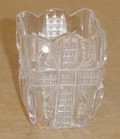 """KLONDIKE"" pattern #75D Toothpick Holder made by Dazell Gilmore & Leighton of Findlay, Ohio, circa 1898"
