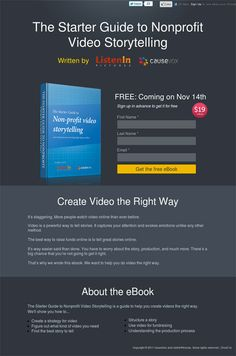 Video Storytelling Landing Page Best Landing Page Design, Landing Page Examples, Best Landing Pages, Web Design, Design Ideas, Sign Up Page, First Page, Screenwriting, Content Marketing