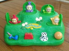 TELETUBBIES POP-UP TOY by HASBRO 1999 Magical Hill Surprise TODDLER baby EUC!