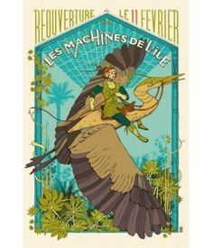 reoppening machines of the isle nantes ranking Lu Nantes, Nantes France, Steampunk Festival, Magic Realism, Jules Verne, Motorcycle Art, Festival Posters, Illustrations, Art Music