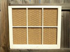 Repurposed Window Frame Organizer
