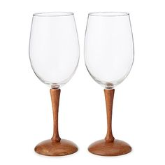 Look what I found at UncommonGoods: Wood Stem Wine Glasses - Set of 2 for $100.00