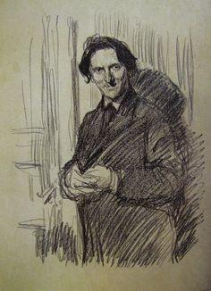 В. А. Серов Портрет В. П. Протейкинского 1899 литография