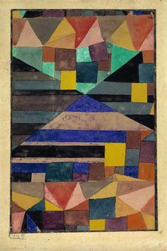Paul Klee, Blauer Berg, 1919 Aquarell, Gouache und Bleistift auf Papier auf Karton on ArtStack #paul-klee #art