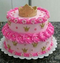 Birthday cake girls peanut butter new ideas Pretty Cakes, Cute Cakes, Beautiful Cakes, Cake Decorating Techniques, Cake Decorating Tips, Birthday Cake Girls, Happy Birthday, Girl Cakes, Buttercream Cake