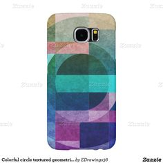 Colorful circle textured geometric design samsung galaxy s6 cases