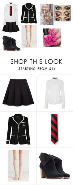 """""""first day of school"""" by wildchild-98 ❤ liked on Polyvore featuring Oui, Polo Ralph Lauren and UGG Australia"""
