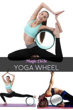 A beautifully designed, durable and comfortable yoga wheel. Take your practice to the next level with this yoga training wheel. Work on back, shoulder, hip and chest opening. Gradually become stronger, flexible and more balanced. Bikram Yoga, Ashtanga Yoga, Zen Yoga, Yoga Flow, Yoga Sequences, Yoga Poses, Dharma Yoga, Yoga Nature, Yoga Breathing