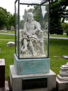 Legends of the little girl have been numerous. One states the little girl died when struck by lightening during a picnic or when locked outside during a thunderstorm. From this legend came another legend that the statue disappears during thunderstorms because Inez is so afraid of them (since being stuck by lightening!). One cemetery employee reportedly ran from the cemetery terrified when he found the glass case surrounding the statue empty. Other reports say Inez died of tuberculosis and…