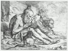 Etching St. Jerome Reading about 1624 Jusepe de Ribera, Spanish (active in Italy), 1591–1652