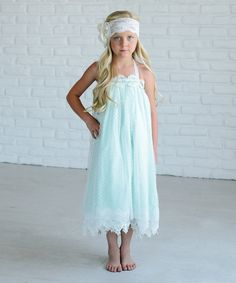 Take a look at this Oopsie Daisy Mint Sheer Frill Shift Dress - Girls today!