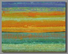 abstract painting ocean sunset painting by SageMountainStudio