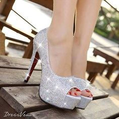 Cute sparkly silver heels for prom | Prom Shoes We Love ...