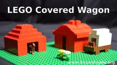 LEGO Covered Wagon: Pioneer Days - http://susanevans.org/blog/lego-covered-wagon/