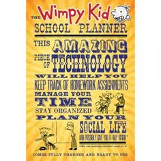 The Wimpy Kid School Planner from Amulet Books