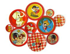 Tin toy dishes - a must in every little girl's play world back in the 50's!