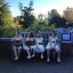 My vote for the cutest quartet of flower girls this summer at the Gardens! September 28, 2013 waiting their turn to walk in and steal the show.  Amy and Nate's 5:30 ceremony. Nate's twins are the bookends in this photo! Matthaei Botanical Gardens
