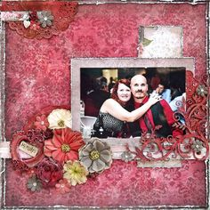 Shabby chic love layout I created for Scraps Of Darkness