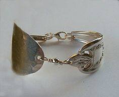 Silver Spoon Bowl Bracelet Silverware Jewelry Antique Old Colony Made to Order