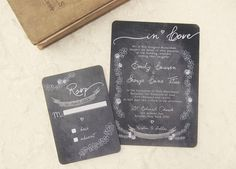 Chalkboard Wedding Invitations  Chalk It Up Love by DaysGoneDesign, $50.00