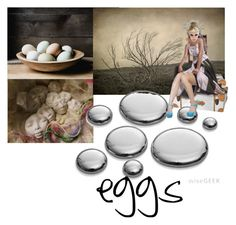"""""""EGGS"""" by pupillae ❤ liked on Polyvore featuring art"""
