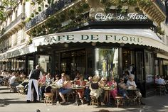 cafe de flore on rue st germain paris - my fav place for lunch!!