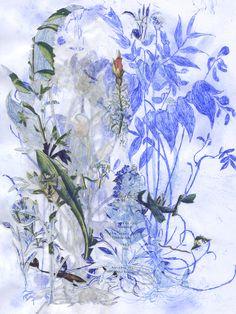 "Saatchi Art Artist: Violet Frances Cato; Paper 2012 Collage ""Lathyrus"""