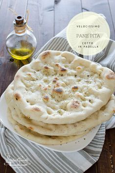 My Recipes, Bread Recipes, Italian Recipes, Cooking Recipes, Healthy Recipes, Pane Pita, I Love Food, Good Food, Focaccia Pizza