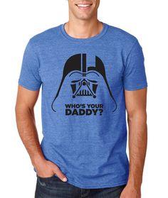 Star Wars Shirt Darth Vader Mens Tshirt Who's by Redeyeclothing