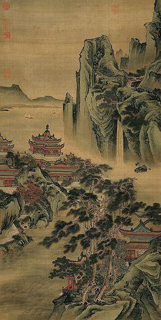 Qiu Ying (仇英) , 江山无限图