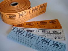Croxton Design thought up this unique business card design for A Hundred Monkeys that makes it look like a ticket spool. The $1300 roll comes with 3000 business cards and is letter-pressed to perfection.