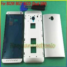 [ 20% OFF ] 100% Original Full Housing Cover Case Door Replacement +Open Tool For Htc One M7 802W 802T 802D (Dual Sim)