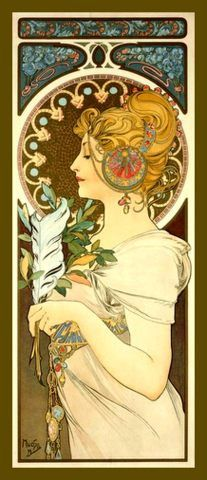 Hey, I found this really awesome Etsy listing at https://www.etsy.com/listing/184778985/fridge-magnet-vintage-mucha-art-nouveau