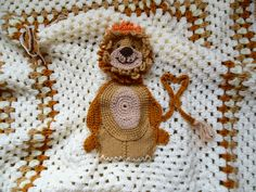 Unique Baby Blanket Crochet Baby Shower Gift Picture Of A Lion Crochet Baby…