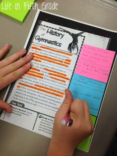 Life in Fifth Grade: Drawing Conclusions: Whole Group Lesson- use colour coded post it notes to sequence ideas for creative writing pieces/persuasive writing/narrative etc Reading Lessons, Reading Activities, Reading Skills, Teaching Reading, Reading Strategies, Guided Reading, Reading Groups, Reading Projects, Reading Intervention