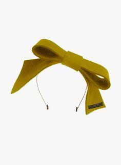 Amour Bows Scarlett Headband in Mustard