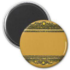 Antique Gold Picture Frame Refrigerator Magnets