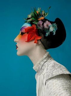 "blooms on her hair .. X ღɱɧღ || felixinclusis: ""Photo by Ivan Aguirre """