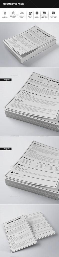 Marketing Executive Resume, Modern Resume Template, CV Template - executive resume templates word