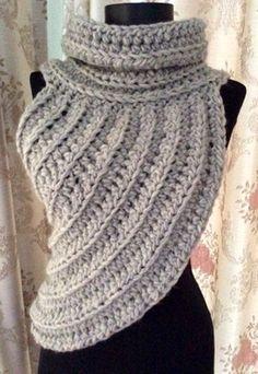 Katniss Cowl Patterns - Knitting Bordado Katniss Cowl Patterns - Cross Body Cowl Archer s Sweater Crochet Pattern English German Diy Tricot Crochet, Tricot D'art, Crochet Scarves, Crochet Shawl, Crochet Crafts, Crochet Clothes, Crochet Baby, Crochet Style, Crochet Vests