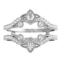 View our ct. Diamond Ring Enhancer in White Gold. Browse our ring enhancers today! Princess Wedding Rings, Wedding Rings Simple, Wedding Rings Solitaire, Beautiful Wedding Rings, Princess Cut Rings, Wedding Rings For Women, Diamond Wedding Rings, Bridal Rings, Wedding Bands