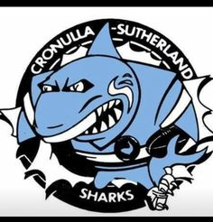 A retrospective logo of the Cronulla-Sutherland Sharks Dodgers Gear, Wood Burning Patterns, Garage Art, Rugby League, Logo Design, Sports Logos, Artwork, Bottle Caps, Sharks
