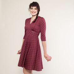 7c566688ef9 Megan Dress - Pearls in Wine