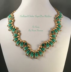 Ombre Scalloped SuperDuo Necklace Tutorial by SoSassySusanSassoon