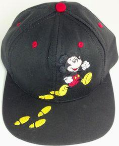 3e50892f5 Disney Hats · Mickey Mouse Hat Disney Embroidered Snapback Black Goofys Hat  Co NWT #GoofysHatCo Mickey Mouse Hat