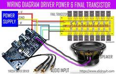 Wiring Diagram Driver Power Amplifier dan Final Power Transistor