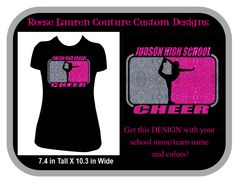 PERSONALIZE Your School/Team Cheer Glitter - T-shirts by ReeseLaurenCouture on Etsy