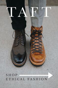 Ethical Fashion Mens Boots Fashion, Mens Fashion Blog, Fashion Moda, Guy Fashion, Work Fashion, Fashion Watches, Fashion Women, Winter Fashion, Mens Work Shoes