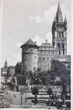 15442 tolle alte Foto AK Königsberg Ostpreußen Schloss um 1939 old postcard